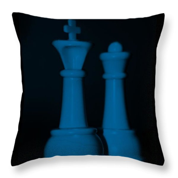 KING AND QUEEN in BLUE Throw Pillow by ROB HANS
