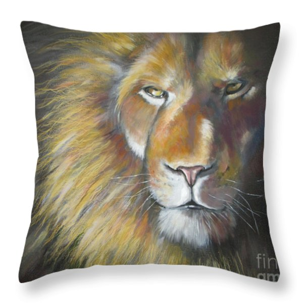 King Throw Pillow by Tamer and Cindy Elsharouni