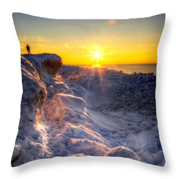 King Of The Hill Throw Pillow by Jenny Ellen Photography