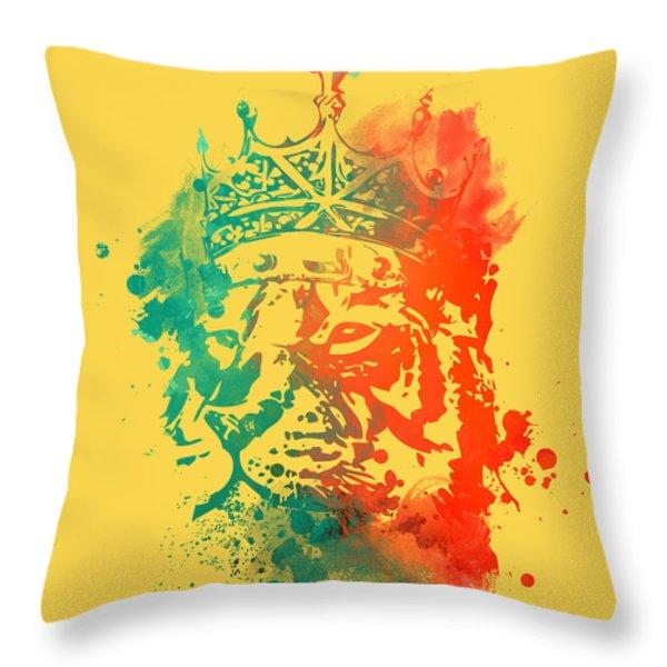 King Of The Jungle Throw Pillow by Budi Satria Kwan