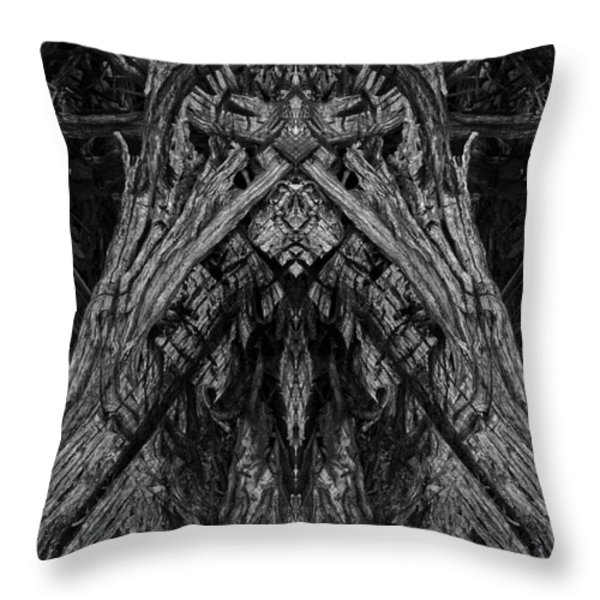 King of the Wood Throw Pillow by David Gordon