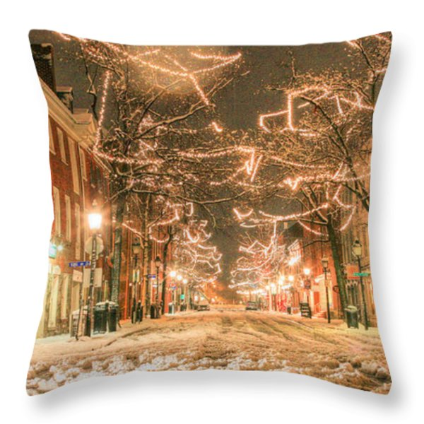 King Street Throw Pillow by JC Findley
