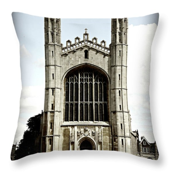 King's College Chapel - Poster Throw Pillow by Stephen Stookey