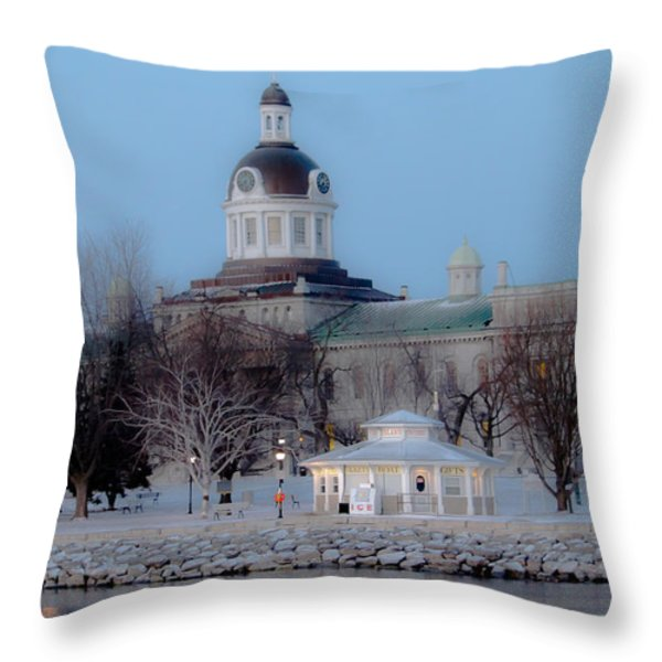 Kingston City Hall Throw Pillow by Michel Soucy