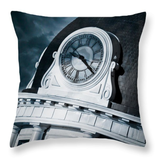 Kingstons' Clock Throw Pillow by Michel Soucy