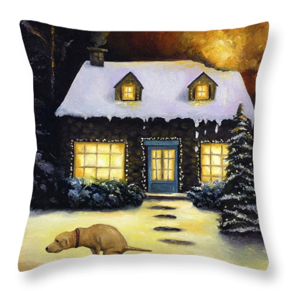 Kinkade's Worst Nightmare Throw Pillow by Leah Saulnier The Painting Maniac