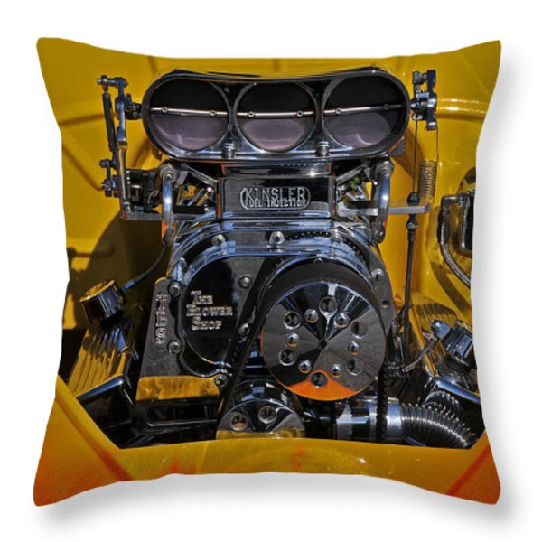 Kinsler Fuel Injection Throw Pillow by Mike Martin