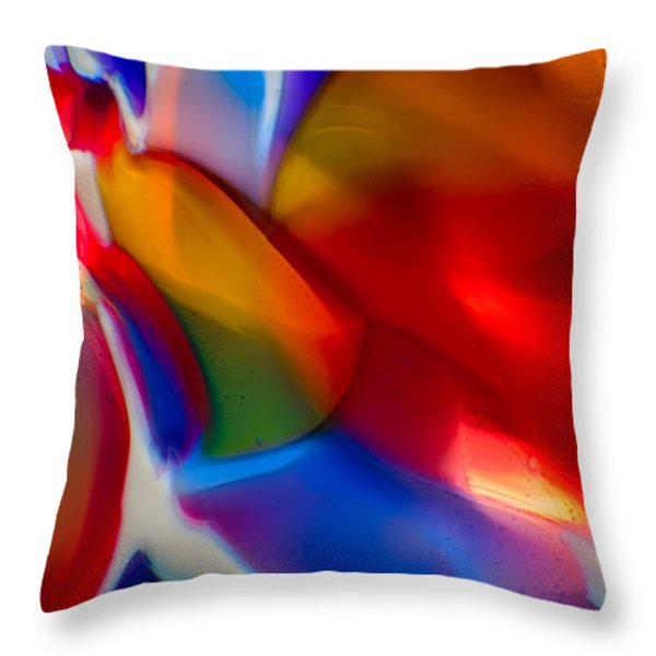 Kissy Face Throw Pillow by Omaste Witkowski