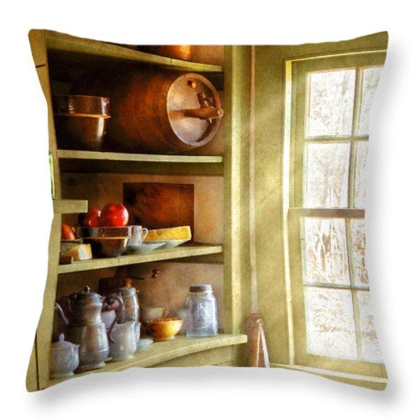 Kitchen - Kitchen Necessities Throw Pillow by Mike Savad
