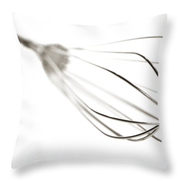 Kitchen Whisk Throw Pillow by Olivier Le Queinec