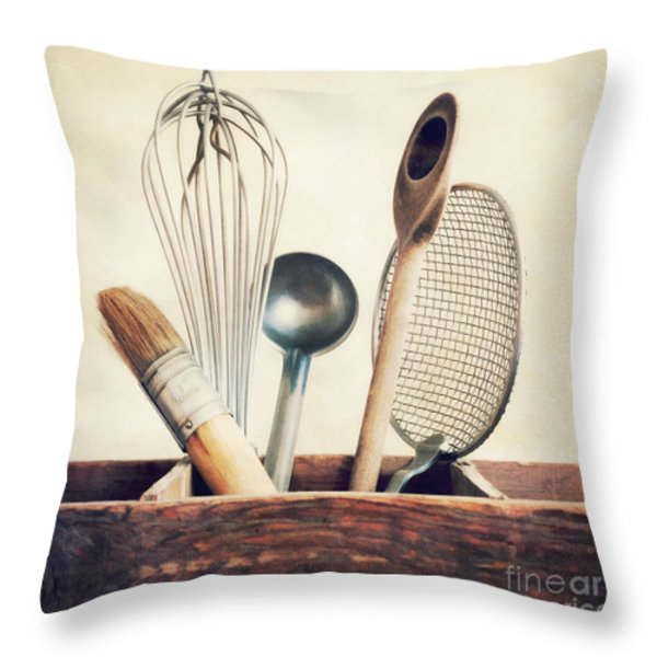 kitchenware Throw Pillow by Priska Wettstein