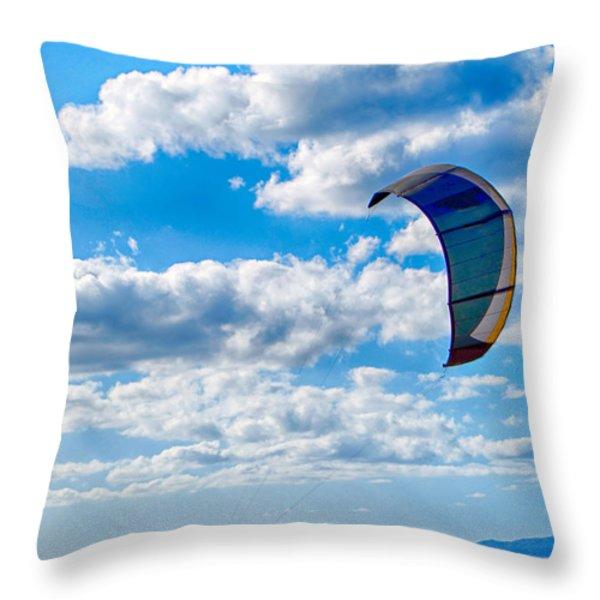 Kitesurfer Throw Pillow by Antony McAulay