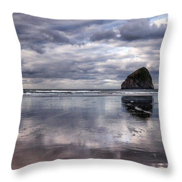 Kiwanda Clouds Throw Pillow by Darren  White