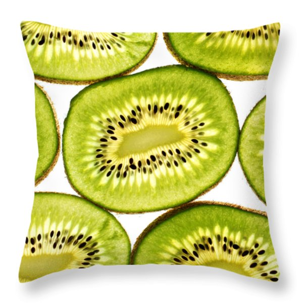 Kiwi Fruit IIi Throw Pillow by Paul Ge