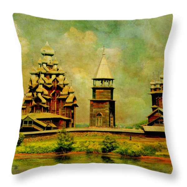 Kizhi Pogost Throw Pillow by Catf