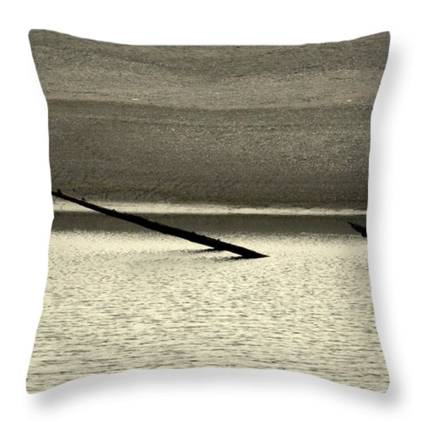 Klamath River Mouth - A Bliss Place Throw Pillow by Christine Till