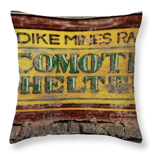 Klondike Mines Railway Throw Pillow by Priska Wettstein