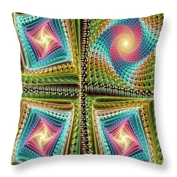 Knitting Throw Pillow by Anastasiya Malakhova