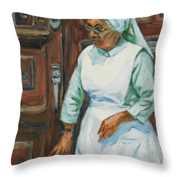 Knocking On Heaven's Door Throw Pillow by Xueling Zou