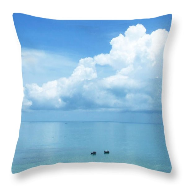 Ko Chang - Thailand Throw Pillow by Andrea Anderegg