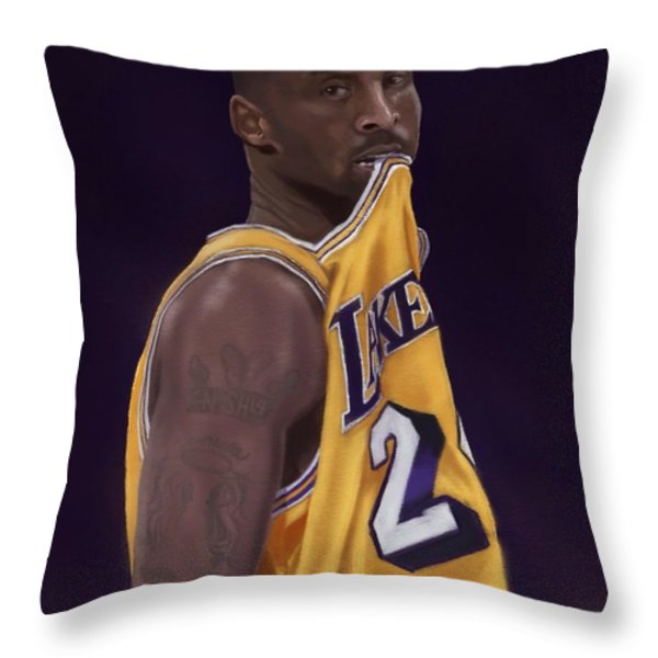 Kobe Bean Bryant Throw Pillow by Jeremy Nash