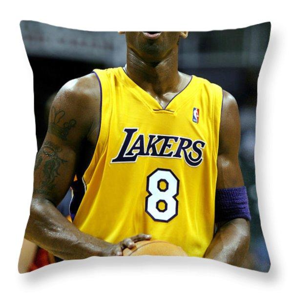 Kobe Bryant Throw Pillow by Mountain Dreams