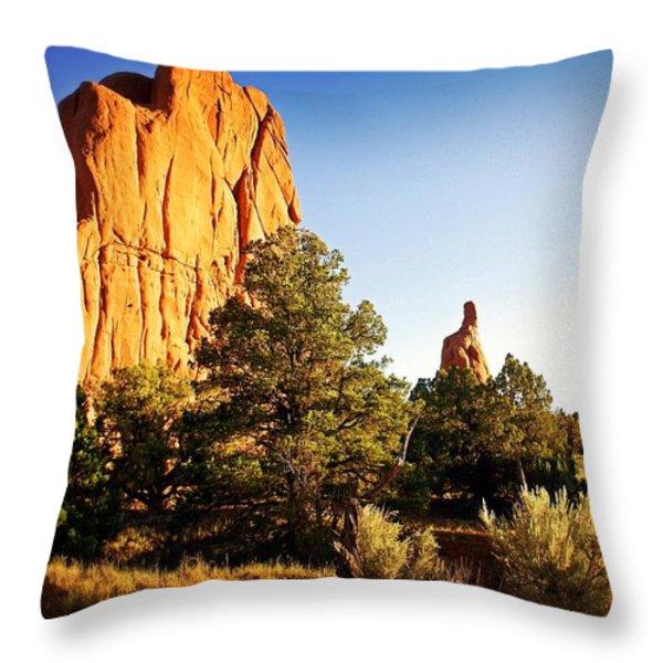 Kodachrome Basin 2 Throw Pillow by Marty Koch