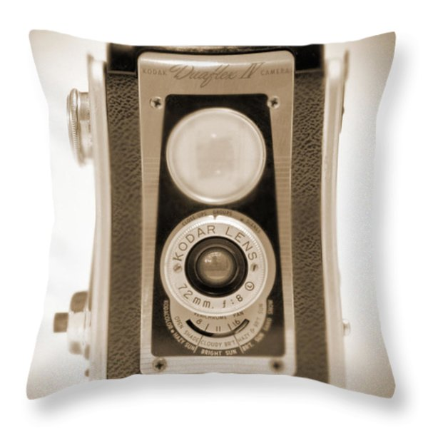 Kodak Duaflex Iv Camera Throw Pillow by Mike McGlothlen