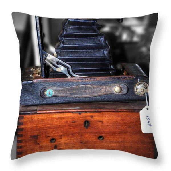 Kodak Folding Autographic Brownie 2-A Throw Pillow by Kaye Menner