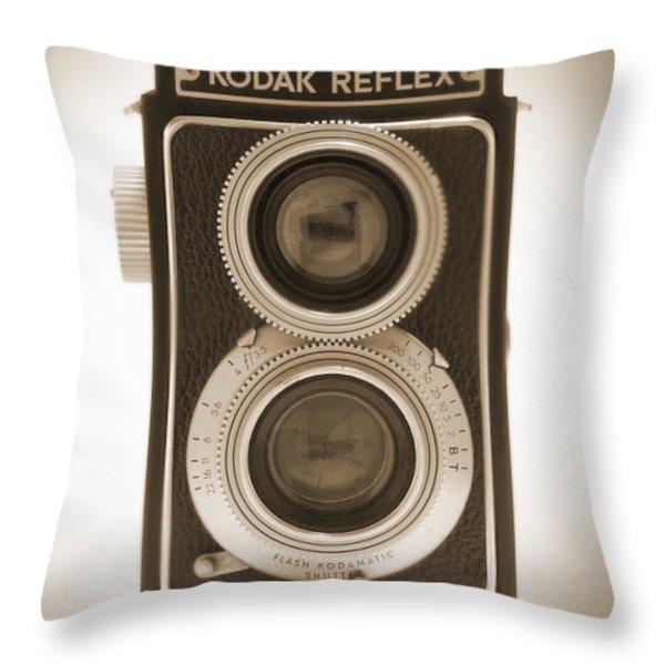 Kodak Reflex Camera Throw Pillow by Mike McGlothlen