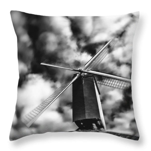 Koelewei Mill Throw Pillow by Wim Lanclus