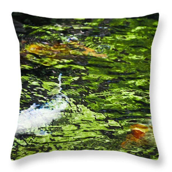 Koi Pond Throw Pillow by Christi Kraft