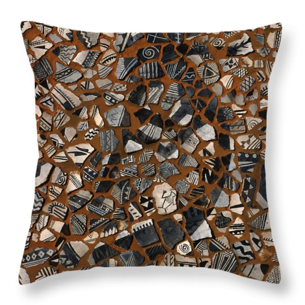 Kokopelli Throw Pillow by Jerry McElroy