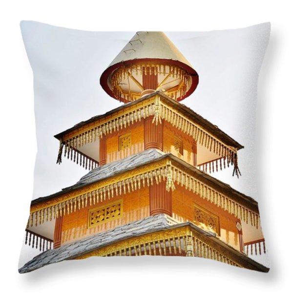 Kondar Devata Temple Throw Pillow by Kim Bemis