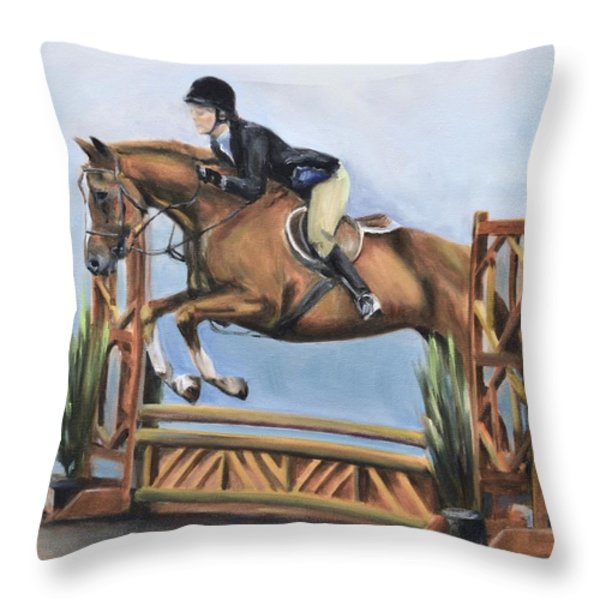 Kristin And Baghdad Throw Pillow by Donna Tuten