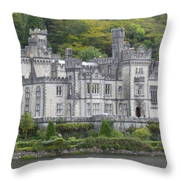 Kylemore Abbey Throw Pillow by Mike McGlothlen