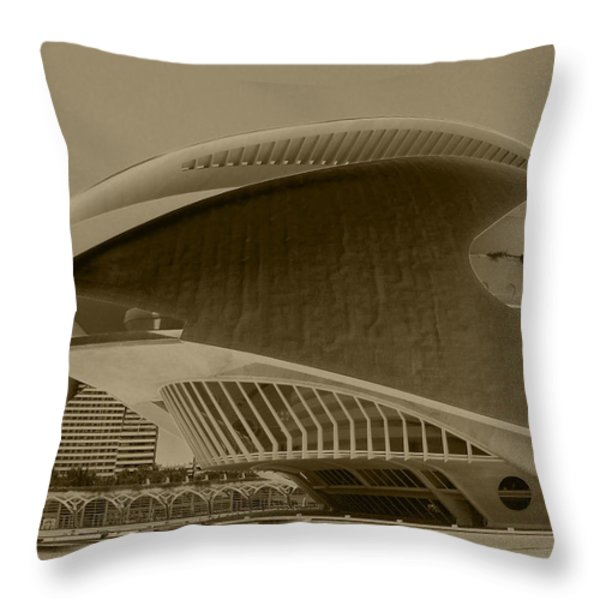 L' Hemisferic - Valencia Throw Pillow by Juergen Weiss