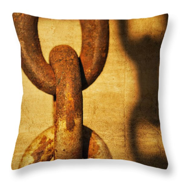 L I N K S Throw Pillow by Charles Dobbs