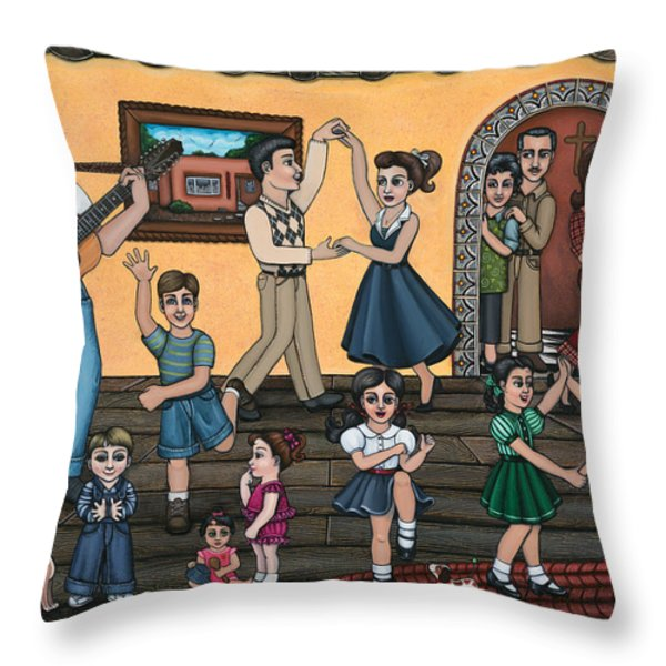 La Bamba Throw Pillow by Victoria De Almeida