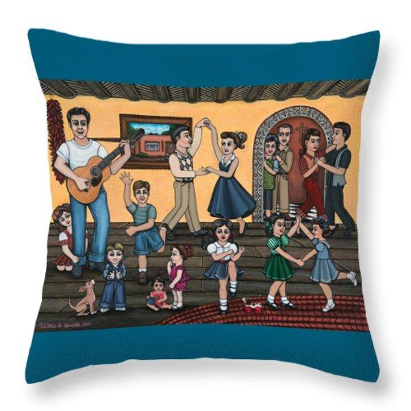 La Bamba Throw Pillow by Victoria De Almeida