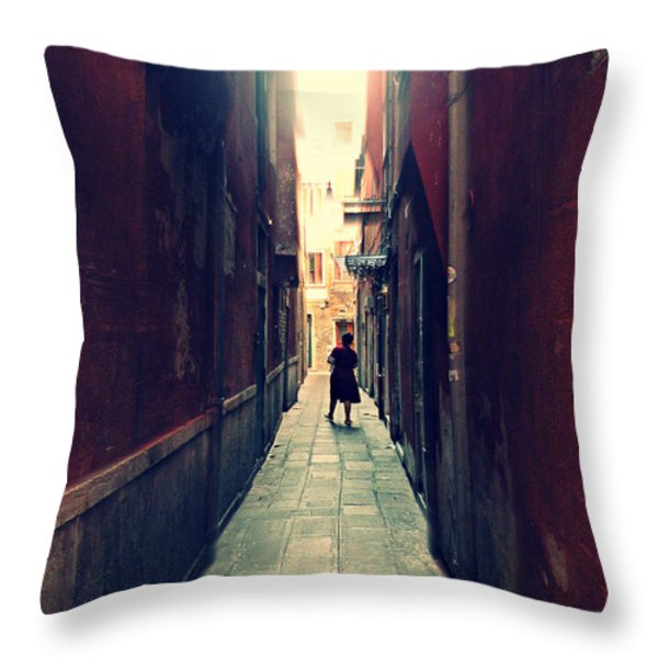 La Cameriera  Throw Pillow by Micki Findlay
