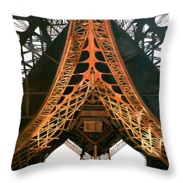 La Dame De Fer Throw Pillow by Tom Roderick