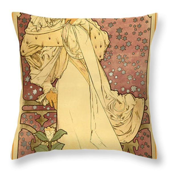 La Dame Throw Pillow by Gary Grayson
