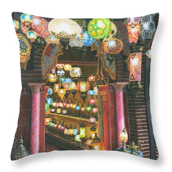 La Lampareria Albacin Granada Throw Pillow by Richard Harpum