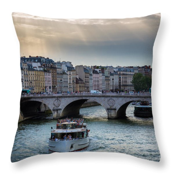 La Seine Throw Pillow by Inge Johnsson