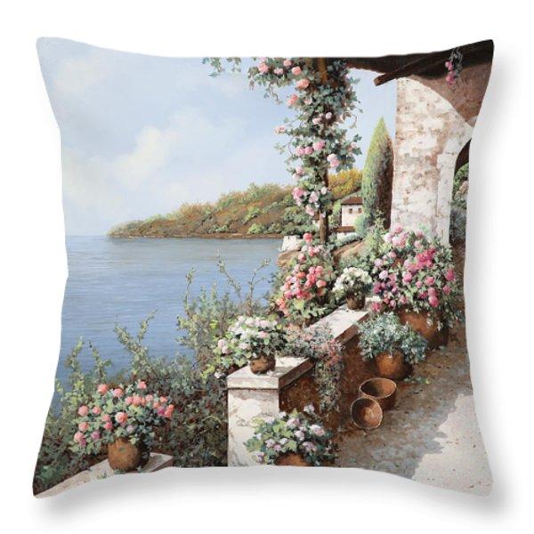 la terrazza Throw Pillow by Guido Borelli