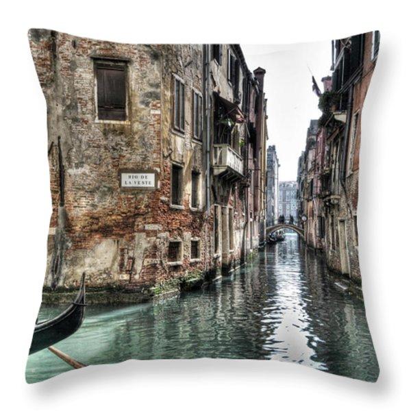 La Veste In Venice Throw Pillow by Marion Galt
