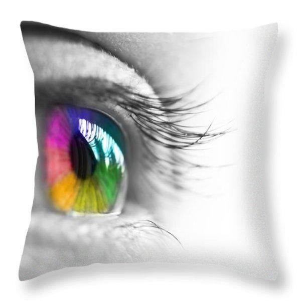 La vie en couleurs Throw Pillow by Delphimages Photo Creations