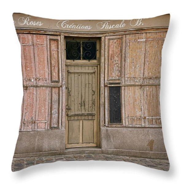 La Vie En Roses Is Closed Throw Pillow by Olivier Le Queinec