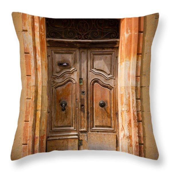 La Vieille Porte Throw Pillow by Inge Johnsson